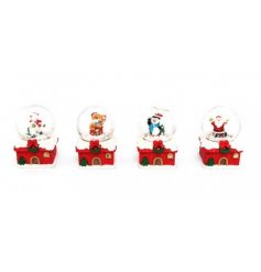 A mix of 4 Christmas snow globes featuring your favourite Christmas characters.