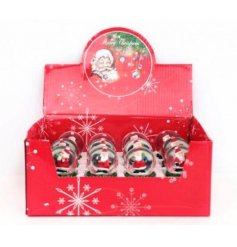 A mix of Santa design snow globes with LED lights. A novelty Christmas item, ideal for kids!