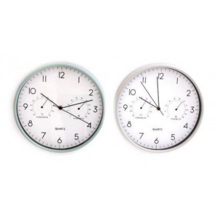 Gardener's wall clock from Love Grows Here giftware range with hygrometer and thermometer. Approx size 30 cm