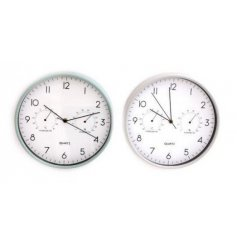 Practical wall clock from the Potting Shed giftware range, includes thermometer & hygrometer. Approx 30 cm
