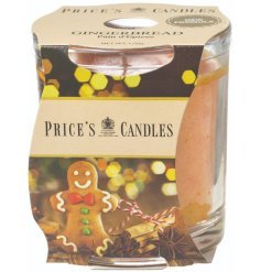 A fine quality and beautifully scented gingerbread candle by Price's Candles. Complete with picture candle wrap