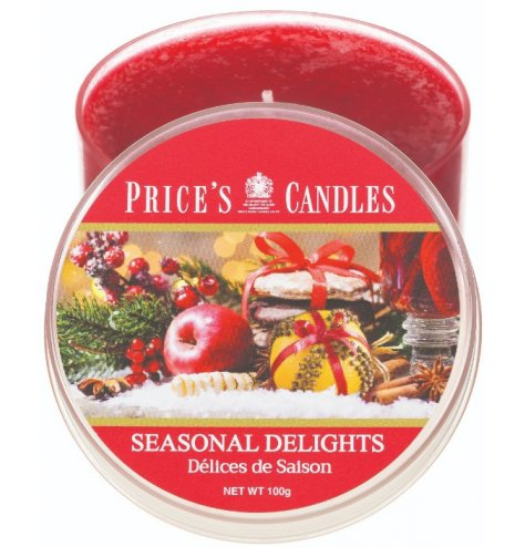 a  Warm and Spicy hinted Seasonal Delights candle tin is a must have in any home