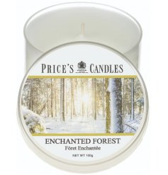 A small candle tin from the delightful Prices Range, sure to indulge you in a cosy and comforting sense of tranquility