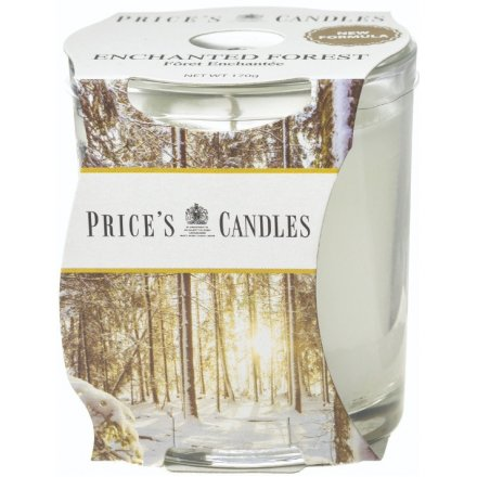 A small candle jar from the delightful Prices Range, sure to indulge you in a cosy and comforting sense of tranquility