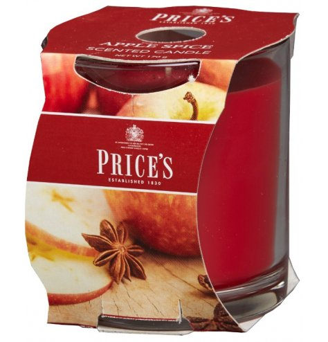 A fine quality scented candle with a rich and sweet apple spice fragrance complete with notes of cinnamon.