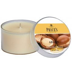 A beautiful scented candle with notes of amber and vanilla.