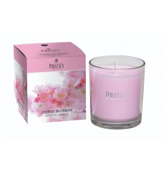A delicate, fruity and floral scented candle with a beautiful colour gift box.