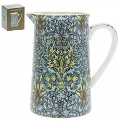 A beautifully patterned jug with a popular William Morris print. Complete with colour gift box.