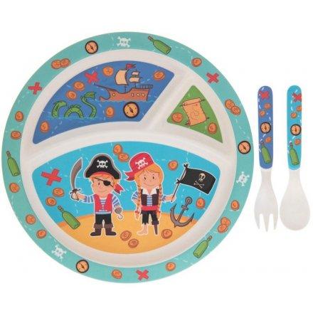Kids Pirate Dinner Set