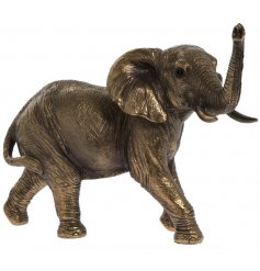 A quality bronzed elephant ornament with fantastic detailing.