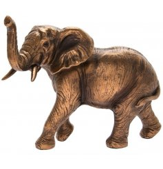 A stunning bronze elephant ornament with wonderful detailing.