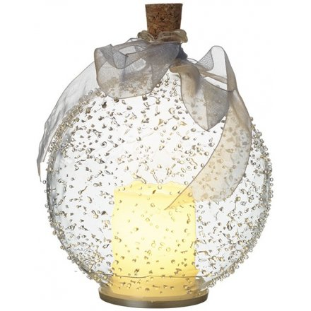 LED Bauble W/Candle