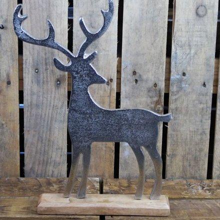 Aluminium Reindeer 42cm