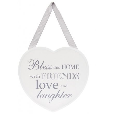Heart Plaque Bless This Home