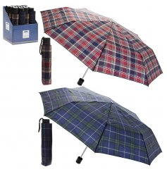 Assorted by their checkered colours, this mix of foldaway umbrellas are perfect for rainy days