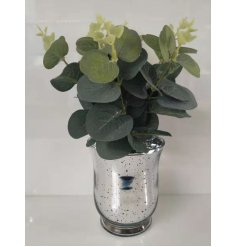 Bunched into a beautifully decorated Silver Speckled Vase