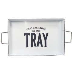 this simple square serving tray will tie in with any themed kitchen