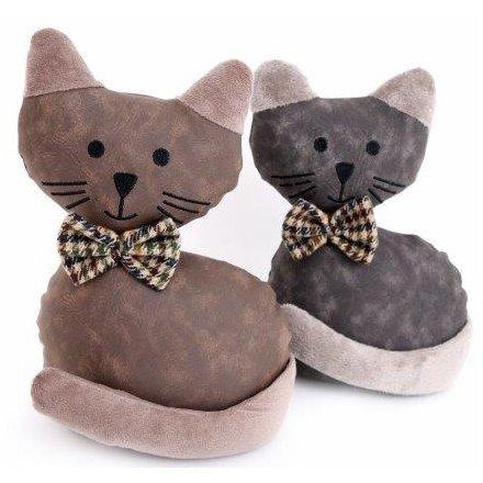 Faux Fur Cat Doorstops, 25cm