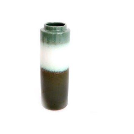 Green Ombre Vase, 24cm