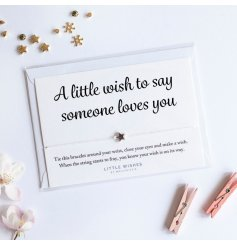 A little wish to say someone loves you. A charming and humorous Little Wishes bracelet with star charm.