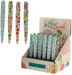 An assortment of pretty patterned tweezers, perfect for home pampering