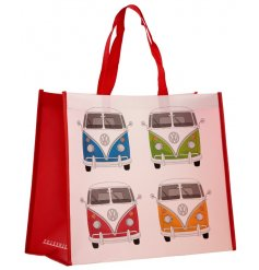 this Volkswagen Campervan printed bag is perfect for when you're out and about