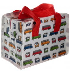 Part of the quirky VW Camper Van Range, this red toned lunch bag will be sure to add a retro look to your lunch time