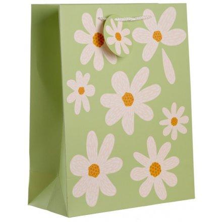 Daisy Print Gift Bag, 33cm
