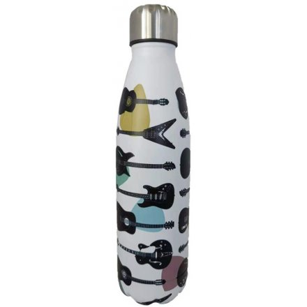 Guitar Print Metal Drinks Bottle, 500ml