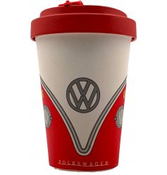 This retro Volkswagen Printed Travel Mug is a perfect gift idea for any anyone