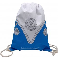 A strong and sturdy draw string bag featuring a Retro Volkswagen Camper Van decal