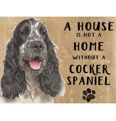 Complete with an adorable Spaniel printed picture and added scripted text