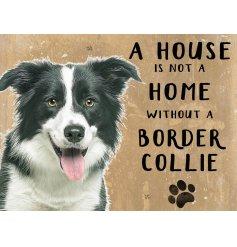 Complete with an adorable Collie printed picture and added scripted text