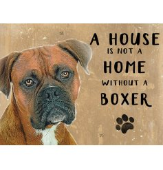 Complete with an adorable Boxer printed picture and added scripted text