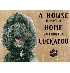 Complete with an adorable cockapoo printed picture and added scripted text