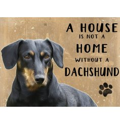 Complete with an adorable Dachshund printed picture and added scripted text