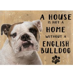 Complete with an adorable Bulldog printed picture and added scripted text
