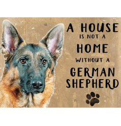 Complete with an adorable German Shepherd printed picture and added scripted text
