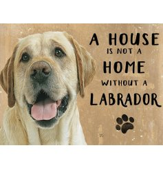Complete with an adorable Yellow lab printed picture and added scripted text