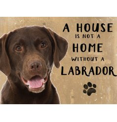 Complete with an adorable Chocolate lab printed picture and added scripted text