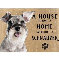 Complete with an adorable Schnauzer printed picture and added scripted text
