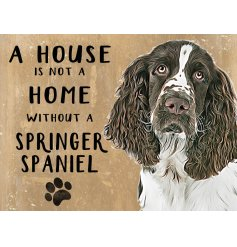 Complete with an adorable Springer printed picture and added scripted text