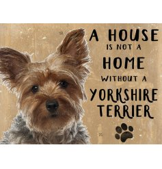Complete with an adorable Yorkie printed picture and added scripted text