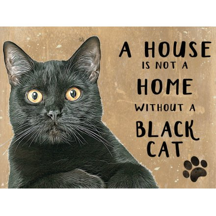 House Not A Home Fridge Magnet - Black Cat