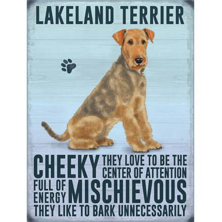 Metal Dog Sign - Lakeland Terrier