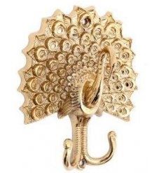 Perfect for adding a hint of Luxe to any home space, this large golden toned wall hook is a must have