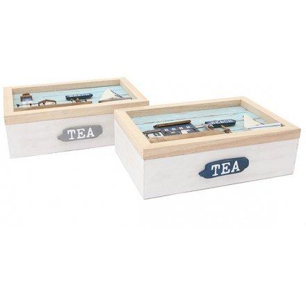 Beachside Tea Boxes, 24cm