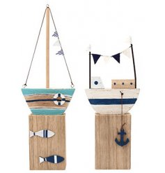 A mix of Coastal themed home accessories made from natural wood