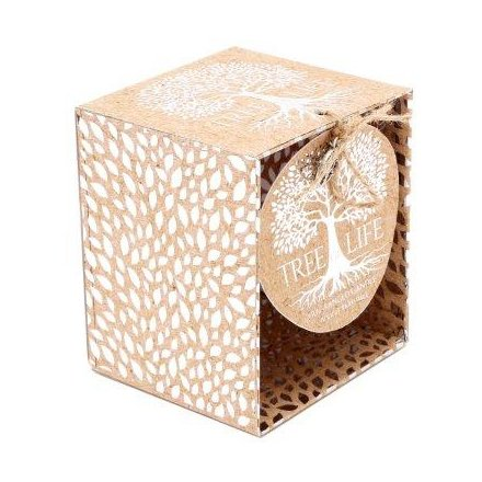 Tree of Life Candle Pot, 10cm