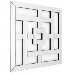 Sure to add statement look to any home, a large square mirror with added art deco lines